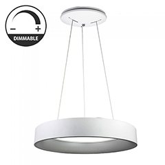 Ledes design csillár (30W) - meleg fényű, dimmelhető, fehér