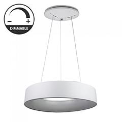 Ledes design csillár (20W) - meleg fényű, dimmelhető, fehér