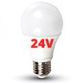 E27 LED lámpa (9W/200°) Körte - természetes fehér, 24 Voltos!