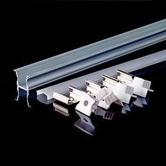 Aluminium U profil (süllyeszthető) LED szalaghoz, opál burával (3351)