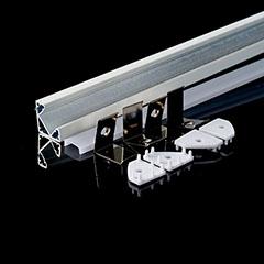 Aluminium sarok profil fehér, LED szalaghoz, opál burával (3364)