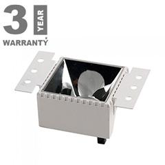 Aluminium spot lámpatest (négyzet) gipszkarton síkba építhető, fehér-króm