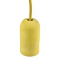 Ceso beton lámpafoglalat (E27) színes kábellel - bézs