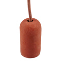 Ceso beton lámpafoglalat (E27) színes kábellel - vörös