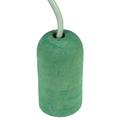 Ceso beton lámpafoglalat (E27) színes kábellel - zöld