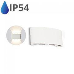Design oldalfali LED lámpatest (6W) fehér - IP54 - 3000K
