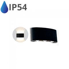 Design oldalfali LED lámpatest (6W) fekete - IP54 - 3000K