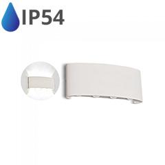Design oldalfali LED lámpatest (8W) fehér - IP54 - 3000K