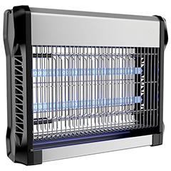 Elektromos rovarcsapda, UV fénycsővel (2x8W) slim, fekete-ezüst