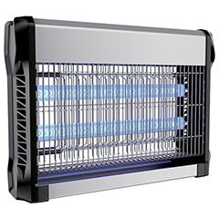 Elektromos rovarcsapda, UV fénycsővel (2x10W) slim, fekete-ezüst