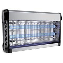 Elektromos rovarcsapda, UV fénycsővel (2x15W) slim, fekete-ezüst
