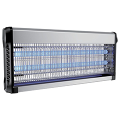 Elektromos rovarcsapda, UV fénycsővel (2x20W) slim, fekete-ezüst