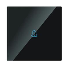 Glass Panel - Fali érintős, csengőkapcsoló (5-500 Watt) fekete