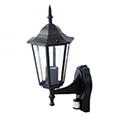 Bolive Up kültéri oldalfali lámpa (E27) fekete, mozg.érz.