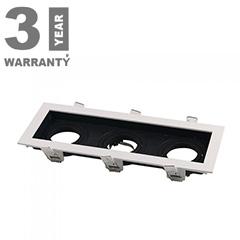 FITTING SQUARE - 3xGU10 Alu spot lámpatest (téglalap), billenthető, fehér-fekete