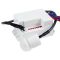 Infrás mozgásérzékelő vezetékes érzékelővel, fehér színben