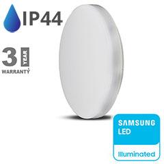 IP44 LED panel falon kívüli - kör (25W) meleg fehér