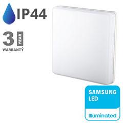 IP44 LED panel falon kívüli - négyzet (15W) Samsung Chip, meleg fehér