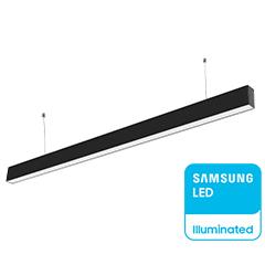 Slim irodai függeszthető LED lámpatest (40W) fekete ház - CCT - 3000K-6400K