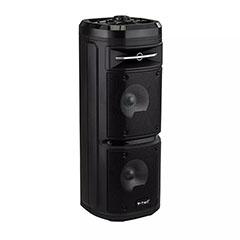Karaoke görgős hangfal mikrofonnal (30 Watt) akkumulátorral, RGB világítás
