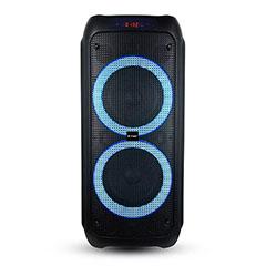 Karaoke görgős hangfal mikrofonnal (40 Watt) akkumulátor, RGB világítás