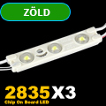 LED modul 1 Watt - 3x2835 COB LED - Zöld