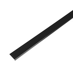 Mágneses sínes LED lámpa rendszer (DC24V) - fedlap, 1 méter, fekete