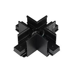 Mágneses sínes LED lámpa rendszer (DC24V) - kereszt csatlakozó, fekete