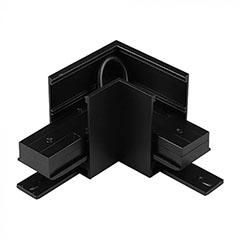 Mágneses sínes LED lámpa rendszer (DC24V) - 90° sarok csatlakozó, fekete