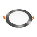 Mattkróm LED panel (kör alakú) 12W - hideg fehér