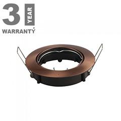 - Olcsó slim design spot lámpatest (kör), billenthető, bronz
