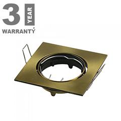 - Olcsó slim design spot lámpatest (négyzet), billenthető, arany