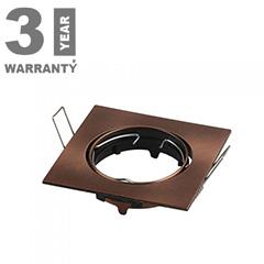 - Olcsó slim design spot lámpatest (négyzet), billenthető, bronz