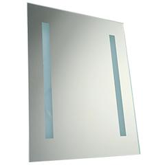 Páramentes tükör  beépített LED világítással (17W/50x39cm) téglalap - hideg fehér