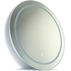 Páramentes tükör  beépített LED világítással  érintőkapcsolóval (25W/60cm) kör - állítható színhőmérséklet + fényerő