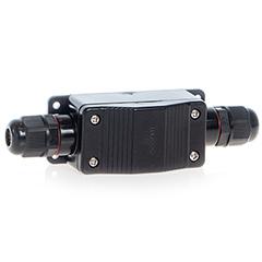 - Led reflektorhoz vízmentes kötődoboz (fedeles) fekete IP65