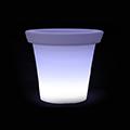 -RGB LED világítású kerti dekoráció, akkuval, távirányítóval - virágcserép