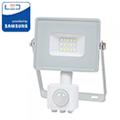 Mozgásérzékelős PRO-W LED reflektor (10W/100°) természetes fehér