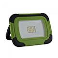 Akkus LED reflektor, munkalámpa (10W/100°) zöld