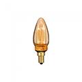 E14 LED izzó Vintage filament (2W/300°) Designer gyertya - extra meleg fehér