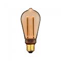 E27 LED izzó Designer Carbon (4W/300°) ST64 - extra meleg fehér (1800K)