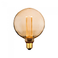 E27 LED izzó Designer Carbon (4W/300°) G125 - extra meleg fehér (1800K)