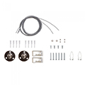 - Por és páramentes LED lámpatest szereléséhez: függesztő szett (sodrony + rögzítő)