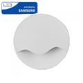 Éjszakai irányfény LED lámpa (0.45W) kör-hullám, meleg fehér, Samsung Chip