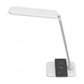 Asztali LED lámpa (16W) fehér-ezüst - vezeték nélküli töltés funkció + dimm
