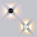 Oldalfali dekor lámpatest - fekete (4W) meleg fehér