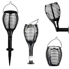 - Napelemes kerti LED lámpa, láng imitációval (4in1: fali, álló, leszúrható, felakasztható)