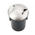 Járófelületbe építhető lámpatest 12V izzóhoz, IP67 vízálló, ezüst, 2 nyílásos