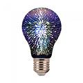 E27 LED izzó Designer tűzijáték 3D effekt filament (3W/300°) Körte - meleg f.