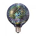 E27 LED izzó Designer tűzijáték 3D effekt filament (3W/300°) G125  - meleg f.